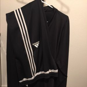 Adidas  track pants and half zip up longsleeve